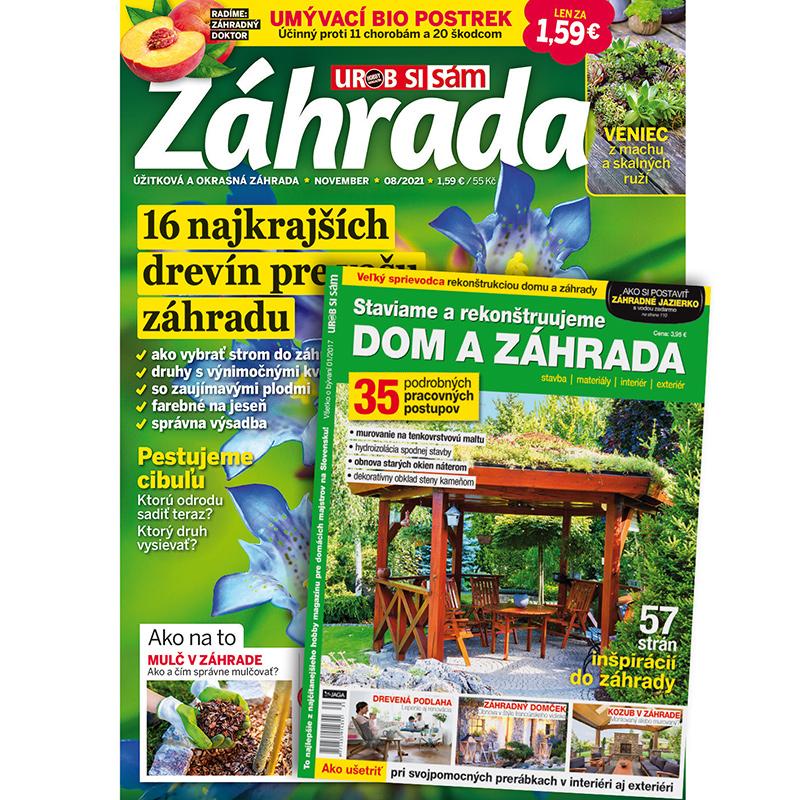 Ročné predplatné Záhrada + publikácia