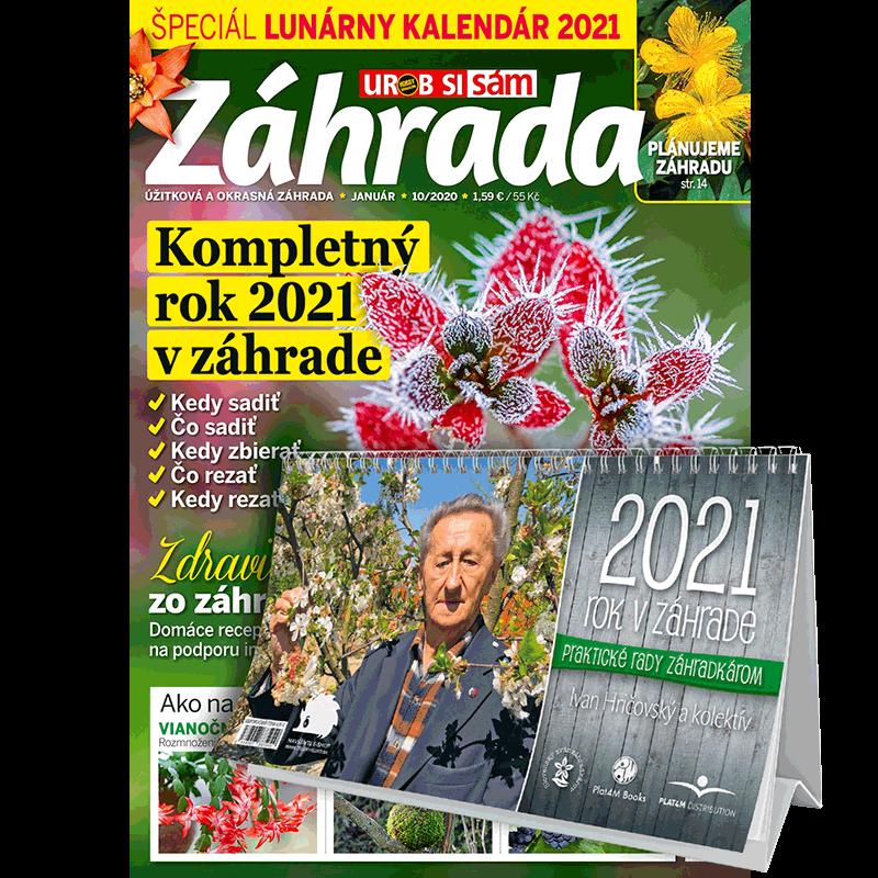 Ročné predplatné Záhrada + kalendár 2021