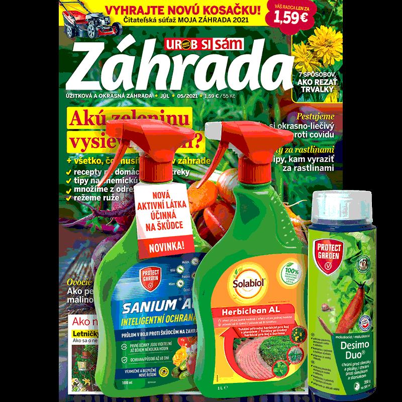 Dvojročné predplatné Záhrada + balíček prípravkov